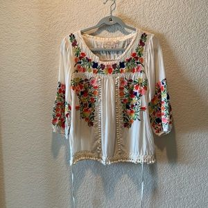 Anthropologie, Vanessa Virginia embroidered top, 4